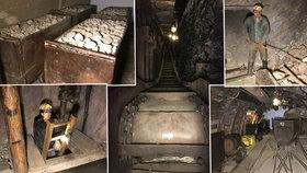 Uhelný důl pod Prahou, o kterém málokdo ví: Z chodeb se ozývá kutání i výbuchy