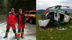 Za nehodu vrtulníku, při které zemřeli dva hasiči, mohla nejspíš závada stroje