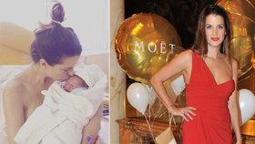 Bývalá modelka Jasanovská porodila: Pohlaví miminka zjistila až po porodu!