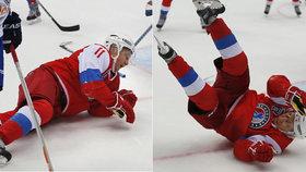 Putin je zpátky ve hře a hned na zemi: Takhle se předvedl na hokeji