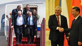 Zeman přiletěl do Číny kvůli Hedvábné stezce. Sám překonal obtíže na schodech