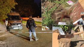 Vražda mezi bezdomovci (23 a †55) ve Stodůlkách: Takhle bydleli, krev na zemi a sekáček