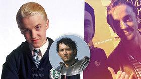 Draco Malfoy a král Artuš jsou v Praze! Tom Felton a Clive Owen v hospodě u Pařížské
