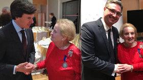 Čeští gratulanti u Albrightové: Je ve skvělé formě