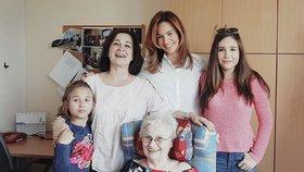 Čtyři generace Kláry Doležalové: Maminka vypadá jako starší sestra!