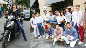 Šinkorová na skútru: Dráždila tucet chlapů!