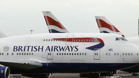 British Airways ruší všechny lety z Londýna. Mají problémy s počítači