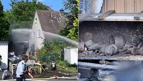 V Německu vybuchly granáty z války. Sběratel si municí napěchoval celou garáž