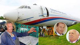 Sběratel Tarantík: Na zahradě má prezidentský speciál, ve kterém létali Klaus i Havel