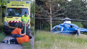 V Prokopském údolí zemřel muž: Záchranáři se k němu nemohli dostat