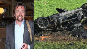 Hvězda pořadu Top Gear skončila v nemocnici: Její vůz shořel v plamenech