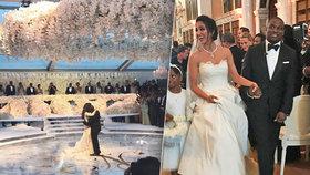 Luxusní svatba s milionem růží: Nejbohatší černoška oženila svého syna