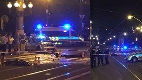 Noční tragédie na Národní třídě v Praze: Tramvaj uvláčela ženu
