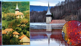 Malebnou vesničku připomíná jen kostelní věž. Vladá ji nechala zaplavit toxickým jezerem
