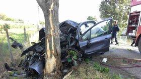 Auto obrácené na střechu i náraz do stromu! Tragické nehody si vyžádaly dva životy