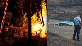 Lidé uhořeli hromadně v autech: Požár v Portugalsku zabil nejméně 62 lidí