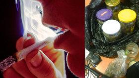 Joint ho prozradil. Policie u mladíka našla čtyři zavařovačky plné marihuany