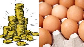 Porovnání cen 12 potravin, které často kupujeme: Zdražilo vajíčko! A ne maličko!
