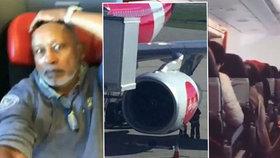 Modlete se, vyzval pilot pasažéry, když selhal motor. Letadlo s 359 lidmi na palubě se třáslo jako pračka