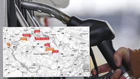 Nekvalitní benzin a nafta v Česku: Tyhle čerpací stanice dostaly pokuty