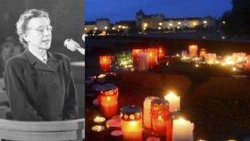"""Milada Horáková """"promluvila"""" k lidem. Na pietě četli její poslední dopis"""