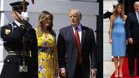 Je Melanie Trump těhotná? Celý svět sleduje, jak jí roste bříško!