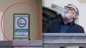 I pro prezidenta Bartošku platí zákony: Vlastní kuřácký koutek!