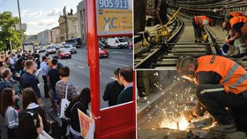 Proč nejezdí část metra C? Lidé si stěžovali na hluk. Vyměňují stovky pražců