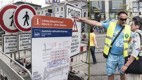 Cestujeme Brno: Chaos a zmatek! Rekonstrukce nádraží a tramvajových ostrůvků je peklo
