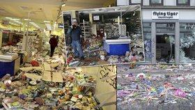 Obchody rabovali hůř než zvěř. Takto dopadl Hamburk po řádění demonstrantů