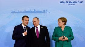 Merkelová, Macron a Putin řešili u snídaně Ukrajinu. Příměří mají za klíč