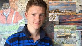 Milionářem ve 14: Geniálnímu chlapci se přezdívá »malý Monet«, jeho obrazy jdou na dračku