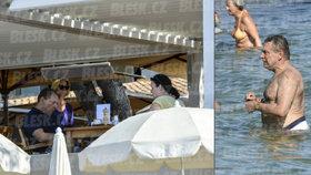 Jiří Paroubek (64) s brunetkou v St. Tropez: Takový luxus! Kdo z vás to má?!
