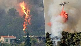 V Chorvatsku, Itálii, Francii i Černé Hoře hoří. Požáry už se dotkly turistů