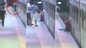 Děsivé video: Ženě se zasekla taška v metru, souprava ji táhla až do další zastávky