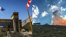 Evakuace ve Skalnatých horách: Požár vyhnal z národního parku 150 turistů