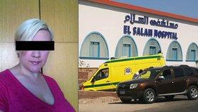 Stav Lenky (36) pobodané v Egyptě se prudce zhoršil. Letí za ní český lékař