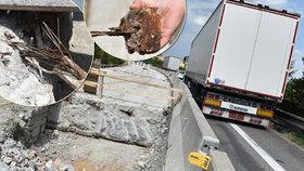 Nejhorší most v Česku je u Brna: Může kdykoliv spadnout! Ještě včera po něm jezdily kamiony
