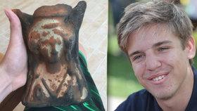 Radek (16) našel v Tunisku 2000 let starý poklad! Pak přišel podraz v hotelu
