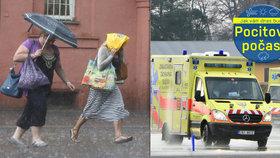 Úterní změna počasí nese rizika. Hrozí infarkty a astmatické záchvaty