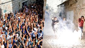 Tisíce muslimů se nahrnuly ke známé mešitě v Jeruzalémě: Chaos a potyčky