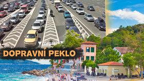 Míříte do Chorvatska? Čeká vás peklo: vedro a nekonečné kolony