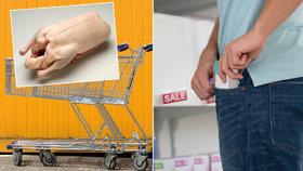 Mražená kachna pod čepicí i koberec pod kabátem: Zloději řádí v marketech