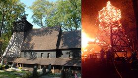 Vyhořelý kostelík v Gutech: Věřící mají smůlu, nový se ještě nestaví