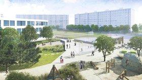 Na Černém Mostě přemění »divočinu« v park. Revitalizace je v plném proudu