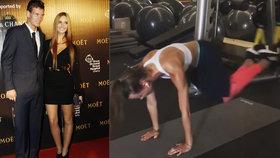 Sexy manželka tenisty Berdycha nemá figuru k nakousnutí zadarmo. Takhle dře!