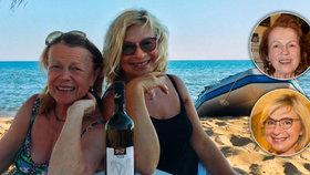 Janžurová a Paulová u moře: 138 let v plavkách!