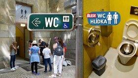 Záchody na Střeleckém ostrově: Jsou čisté, ale nezvládají nápor lidí o víkendu
