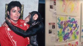 Kam se poděl šimpanz Michaela Jacksona? Je z něj malíř! Prodal obraz za 66 tisíc!