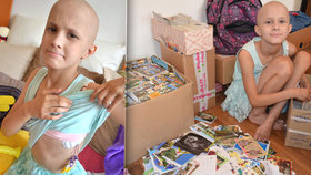 Statečná Lenička (10) po 22 chemoterapiích: Čtenáři Blesku jí poslali 35 tisíc pohledů!